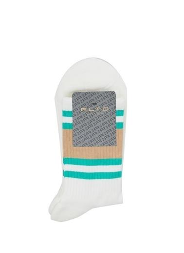 Alto Socks Alto Socks   Çizgili Erkek Çorap 101643924 Beyaz